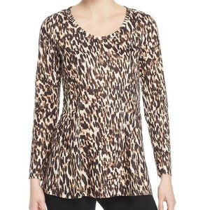Love Scarlett S Rustic Leopard Peplum Top NWT AL36